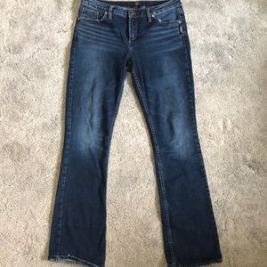 Ladies Silver Jeans Aiko slim boot